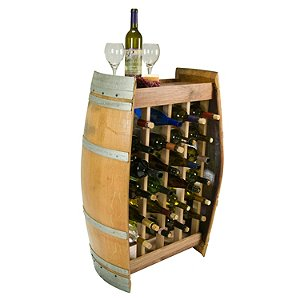 Reclaimed Wine Barrel 24 Bottle Wine Rack