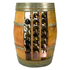 Reclaimed Whole Wine Barrel 28 Bottle Wine Rack