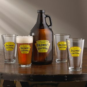 Personalized Yellow Tavern Beer Set (1 Growler &