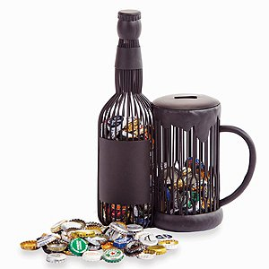 Beer Mug Bottle Cap Caddy