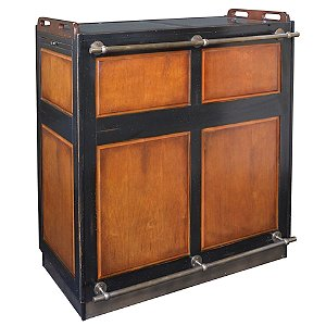 Casablanca Bar (Wood with Black Trim)