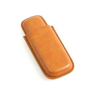 Bey-Berk Tan Leather Cigar Case