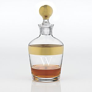 Personalized Madison Avenue Whiskey Decanter Gold Band