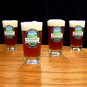 Personalized 19th Hole Golf Pints (Set of 4)