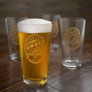 Personalized Brewing Co. Beer Glasses (Set of 4)