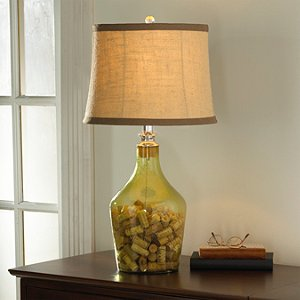 Napa Glass Cork Catcher Table Lamp