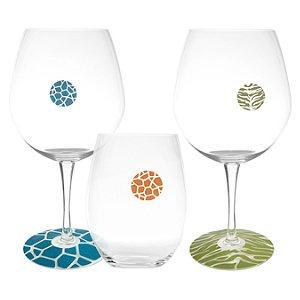 Tiger & Giraffe WineWrapps and DrinkDotz Glass Identifiers
