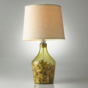 Napa Glass Cork Catcher Table Lamp (Light Tan
