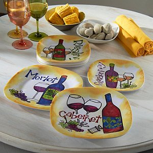 Varietal Melamine Dinner Plates (Set of 4)