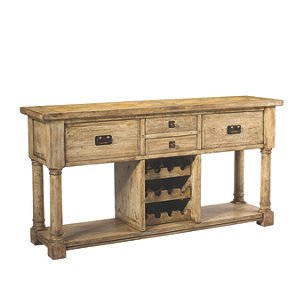 Pyrenees Wine Storage Console Driftwood Finish