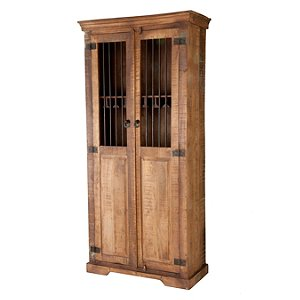 Rustic Double Door Wine Cabinet