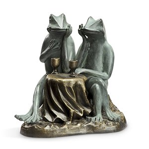 Frog Couple Garden Statue