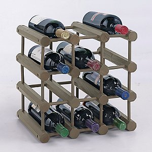 Modular 12 Bottle Wine Rack (Stone Gray)
