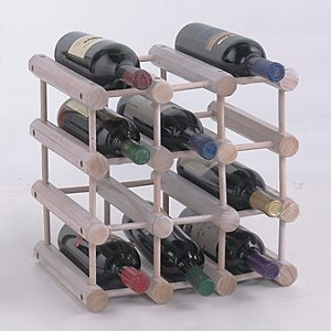 Modular 12 Bottle Wine Rack (White Wash)