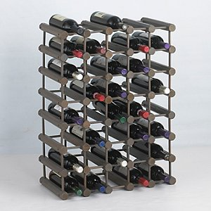 Modular 40 Bottle Pine Wine Rack (Stone Gray)