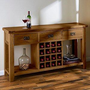 Montpellier Solid White Oak Wine Console