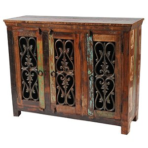 Beech 3 Iron Door Buffet Table