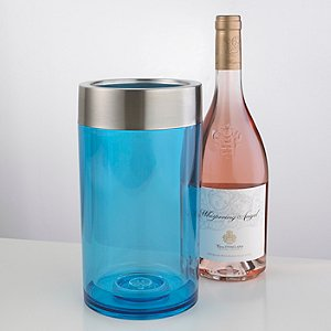 Double-Wall Iceless Wine Bottle Chiller (Blue)