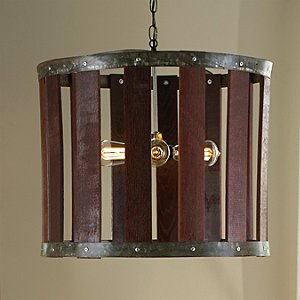 Barrel Stave Chandelier