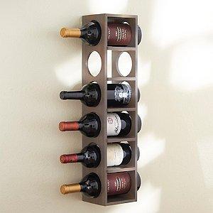 6 Bottle Wine Rack (Stone Grey)