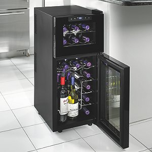 Wine Enthusiast Silent 21 Bottle Dual Zone Touchscreen