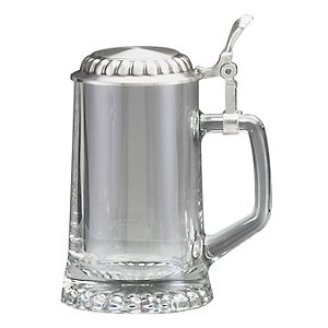 Glass Beer Stein with Lid