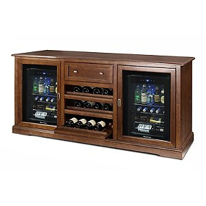 Siena Wine Credenza with Two Evolution Series Beverage