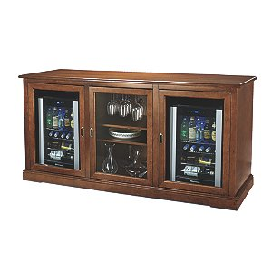 Siena Triple Wine Credenza with Two Evolution Series