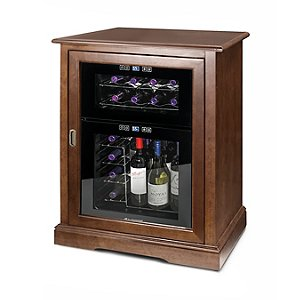 Siena Single Wine Credenza with FREE 24 Bottle