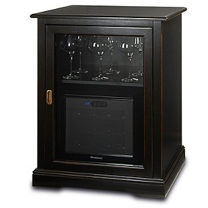 Siena Single Wine Credenza with 12 Bottle Touchscreen