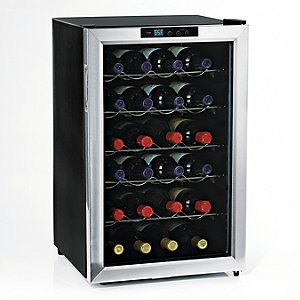 Wine Enthusiast Silent 28 Bottle Wine Refrigerator (Stainless