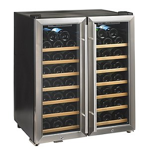 Wine Enthusiast Silent 48 Bottle Double Door Dual