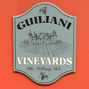 Personalized Vineyard Plaque Light Blue