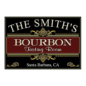 Personalized Bourbon Tasting Room Sign