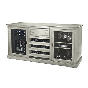Siena Wine Credenza (Distressed Gray) with 24 Bottle
