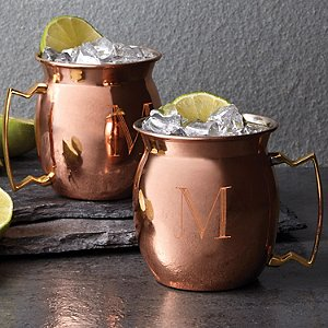 Personalized Copper Moscow Mule Mug 16 oz (Set
