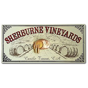 Personalized Vineyard Plank Sign