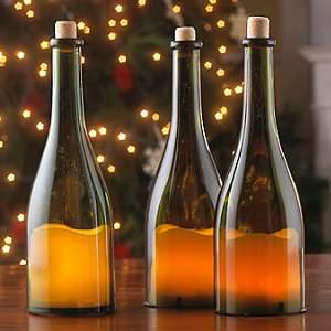 Wine Bottle LED Candles (Set of 3)