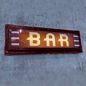Illuminated Bar Sign (Red)