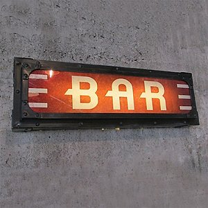 Illuminated Bar Sign (Black)