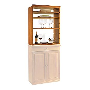N'FINITY Wine Rack Kit - Hutch with Shelves