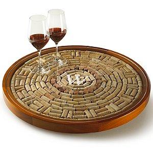 Personalized Wine Cork Lazy Susan Kit
