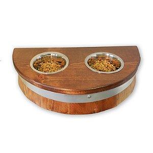Wine Barrel Top Pet Bowl