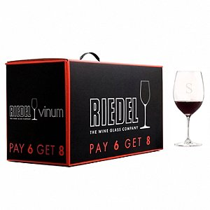Personalized Riedel Vinum Cabernet / Bordeaux (Pay 6