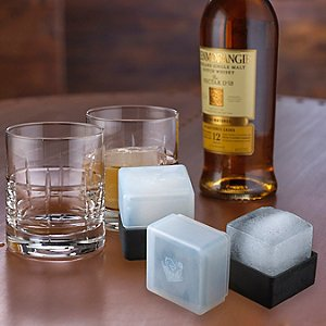Highlands Whiskey Glasses and Ice Mold Set