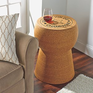 Champagne Cork End Table