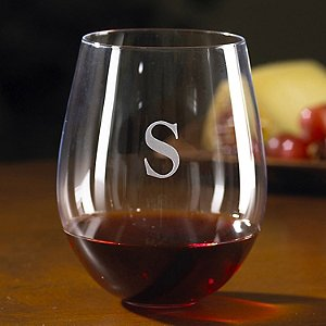 Personalized Wine Enthusiast Cabernet Stemless Wine Glasses (Set