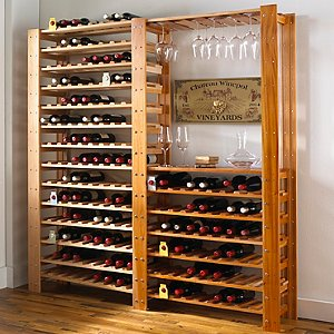 Swedish Wine Center & 126 Bottle Wine Rack