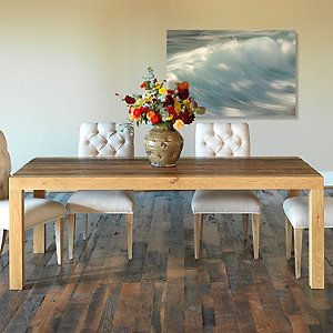 Reclaimed Wood Beam Leg Dining Table (96 X