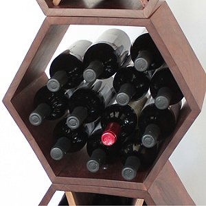 Hive Modular Wine Rack (Walnut)